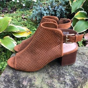 Loft Open Toed Perforated Booties